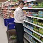 """BRACE student """"Lachlan Simmie"""" during his work placement at """"Coles"""""""