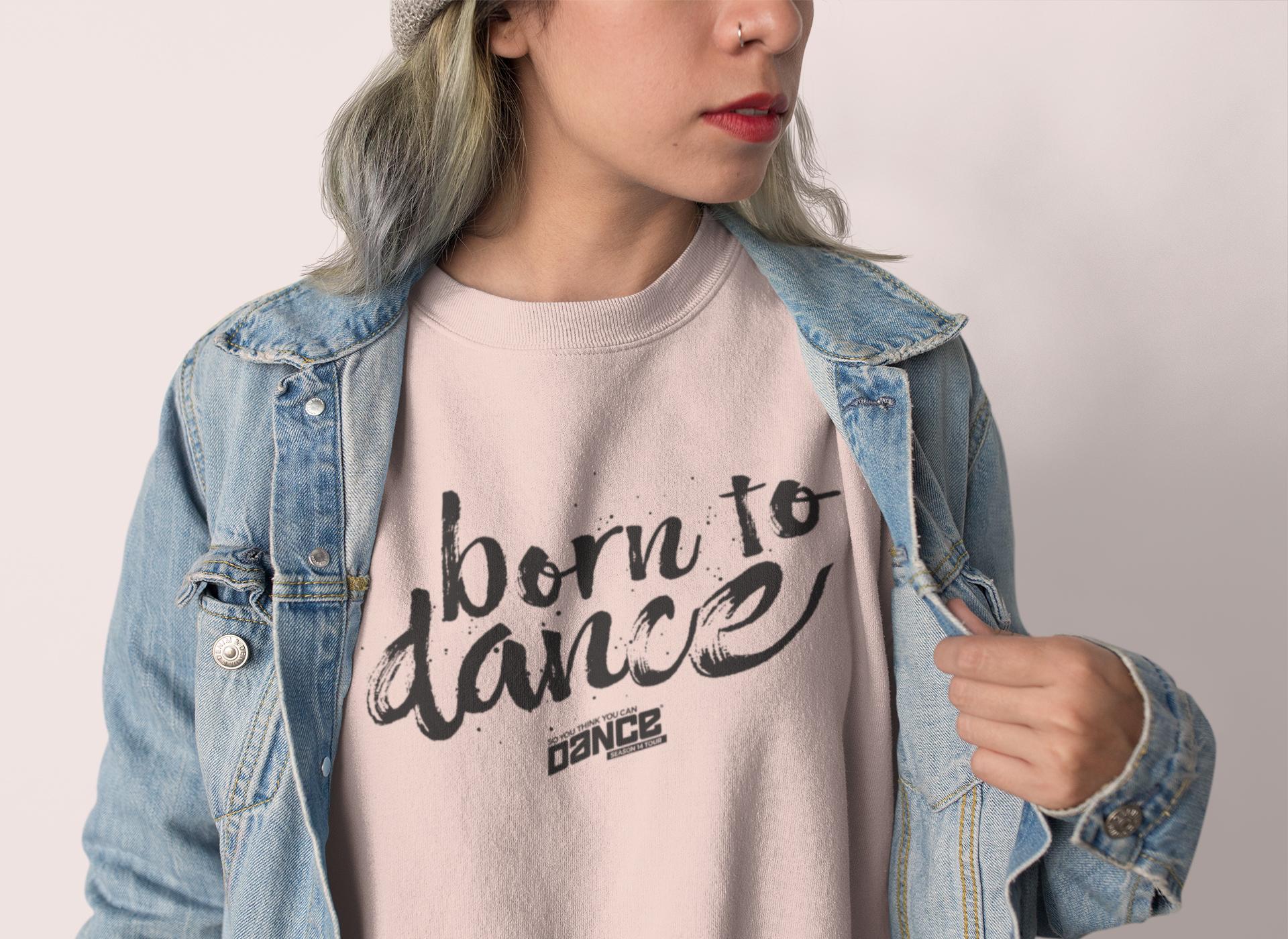 SYTYCD Born To Dance Cropped Sweatshirts
