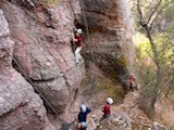 rock climbing and camping weekends
