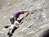 rock climb castle rock waterfall face 9-14-14