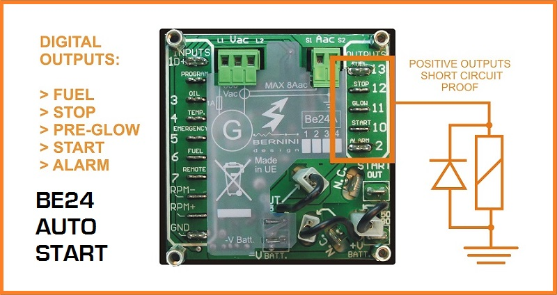 Generator auto start output connections