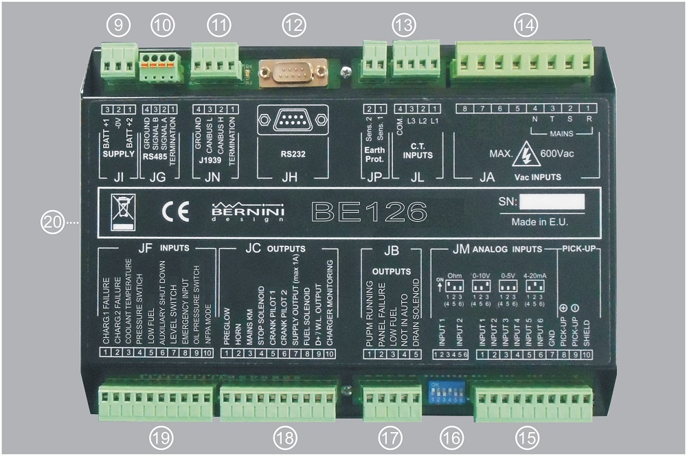 fire fighting system controller connections