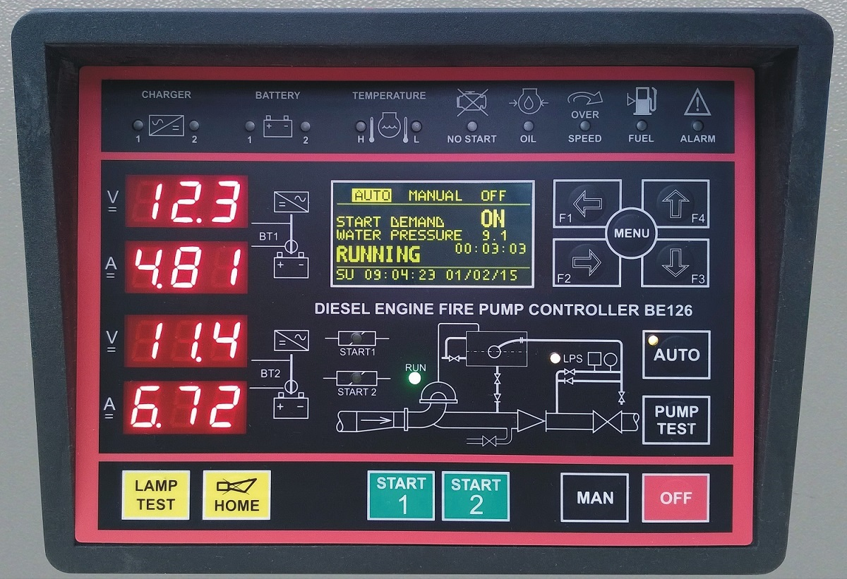 Be126 fire fighting system controller