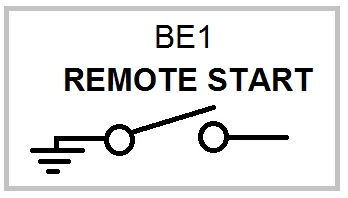 be1 generator remote start