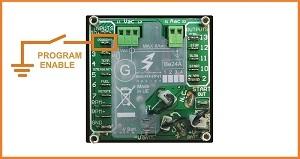 Generator auto start program enable input