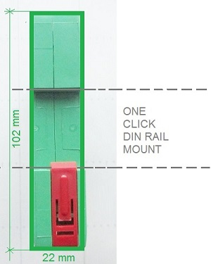 BE48 DIN RAIL MOUNT