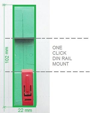 BE48 DIN RAIL MOUNT