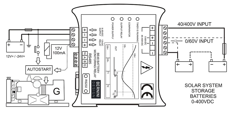 Voltage Monitoring Relay Circuit Diagram