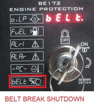 BELT BREAK SHUTDOWN