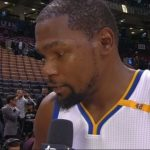 Drake Bumps Kevin Durant After the Golden State Warriors Defeated Toronto