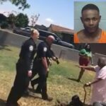 90 Year-Old Woman Shields Her Grandson From Police Over Traffic Ticket.
