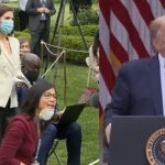 Trump Gets Called Out By Female Reporters And Storms Out Conference.