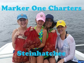 Steinhatchee scalloping with Marker One Charters