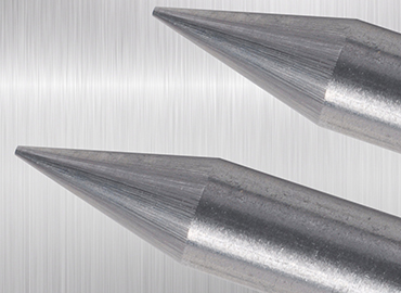A close-up picture of tungsten electrodes