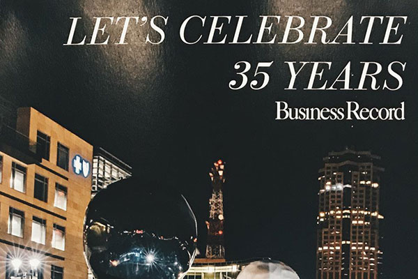 Business Record cover celebrating 35 years