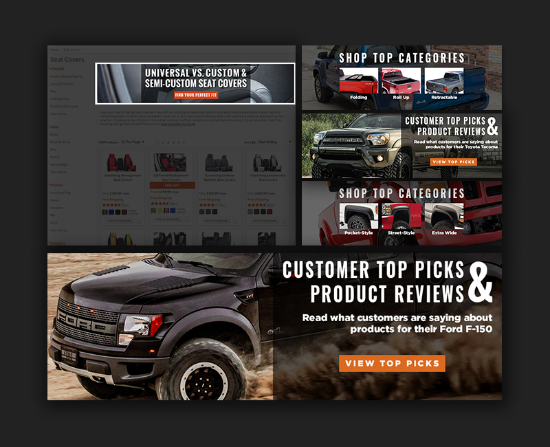 banner use on website plus several design examples