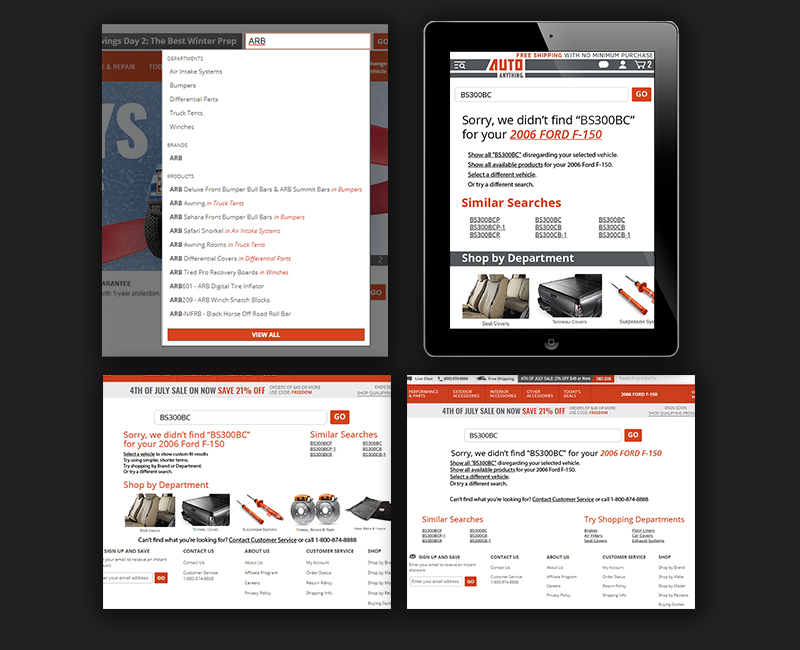 Search Results Mock Up