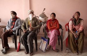 TB patients wait for their treatment at a DOTS centre in India. Several have drug resistant TB. © Maureen Scarpelli