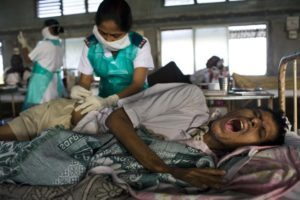 The Bangladesh regimen included a drug, kanamycin, which had to be painfully injected every day © David Rochkind