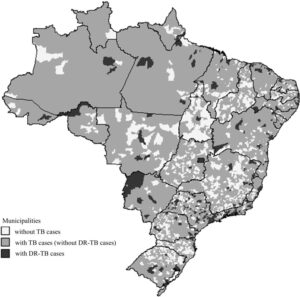 TB and drug resistant TB in cities in Brazil 2014 ©SciEL