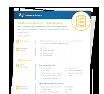 Data Checklist Data Sheet