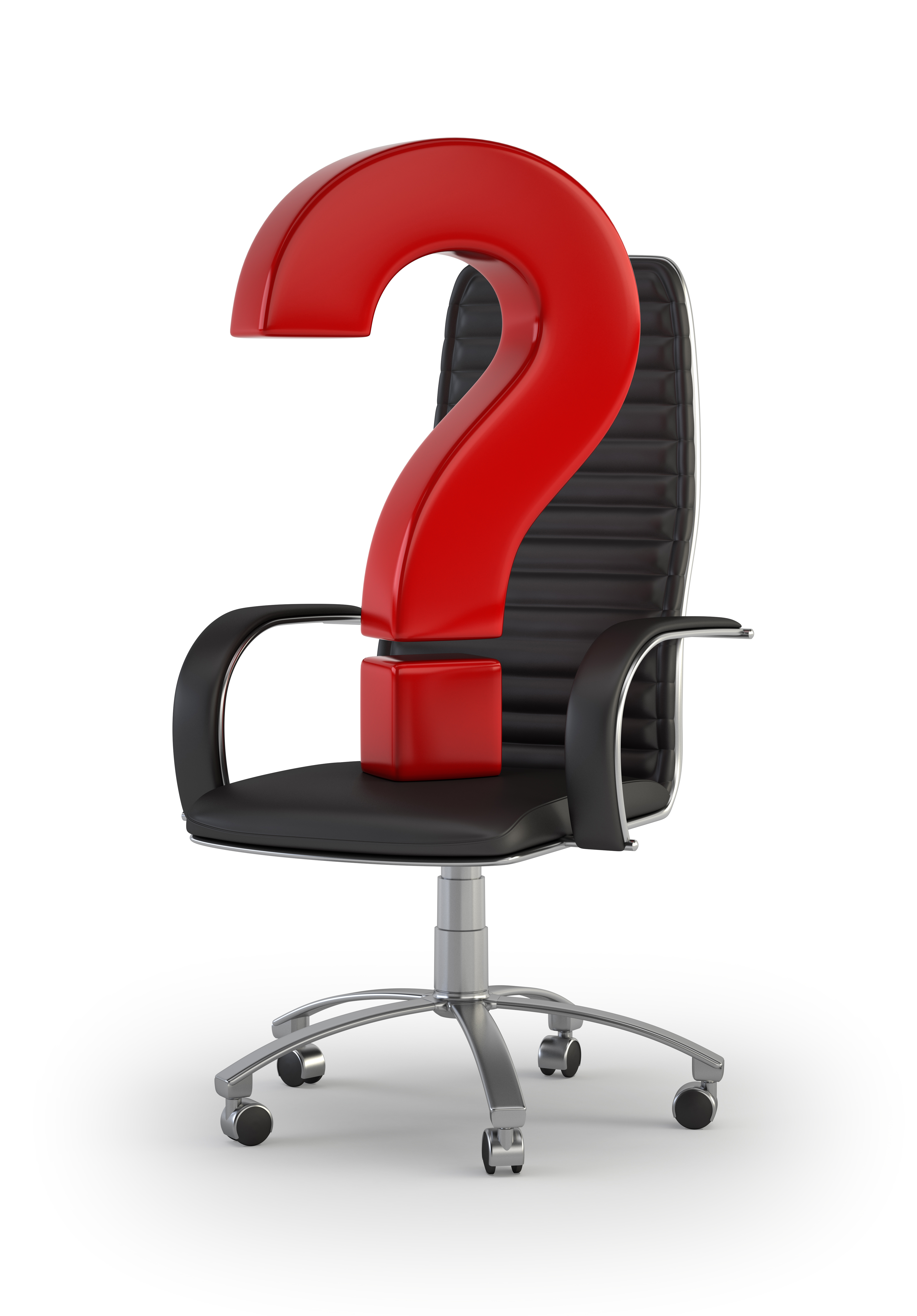 a question mark placed on an office chair asking who HR should report to