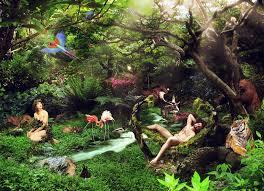 The Garden of Eden represents a distorted version of awakening as a physical creature