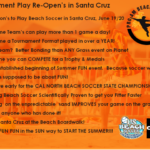 June 19/20th, Why Play Beach Soccer in Santa Cruz after June 15th Pandemic Re-Opening!?!