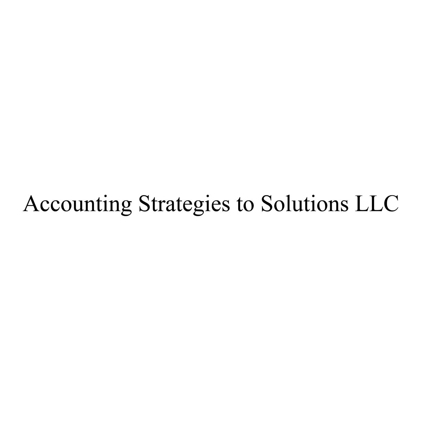Accounting Strategies to Solutions-01-01