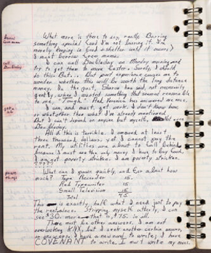 image of Octavia Butler commonplace book