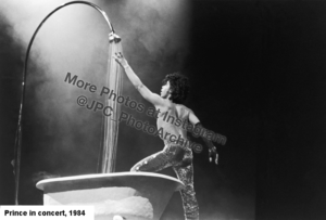 image of Prince in concert 1984