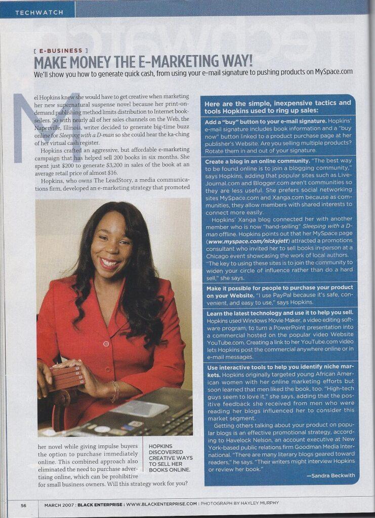 Black Enterprise TechWatch Feature E-Business Make Money The E-Marketing Way!