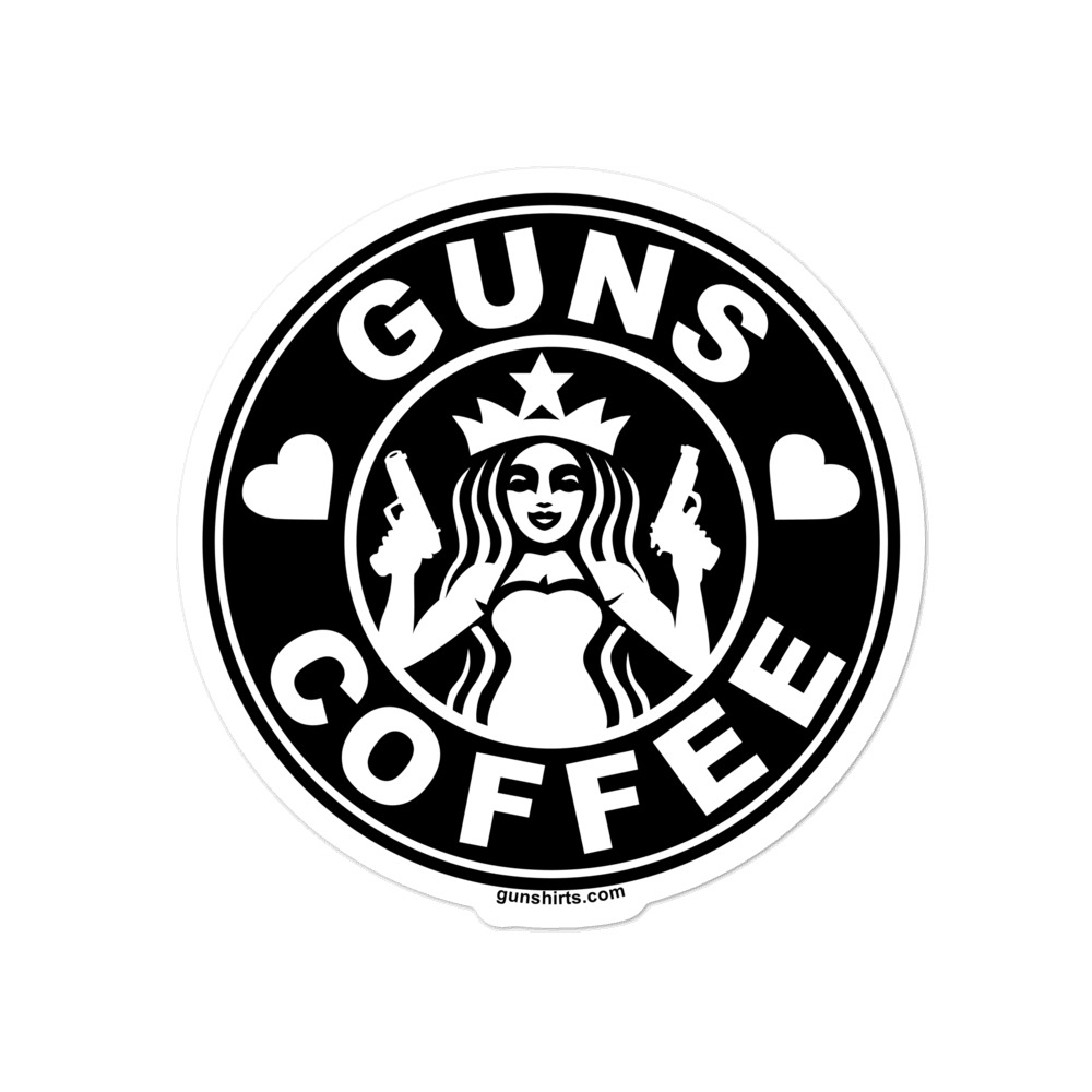 love-guns-coffee-sticker-black