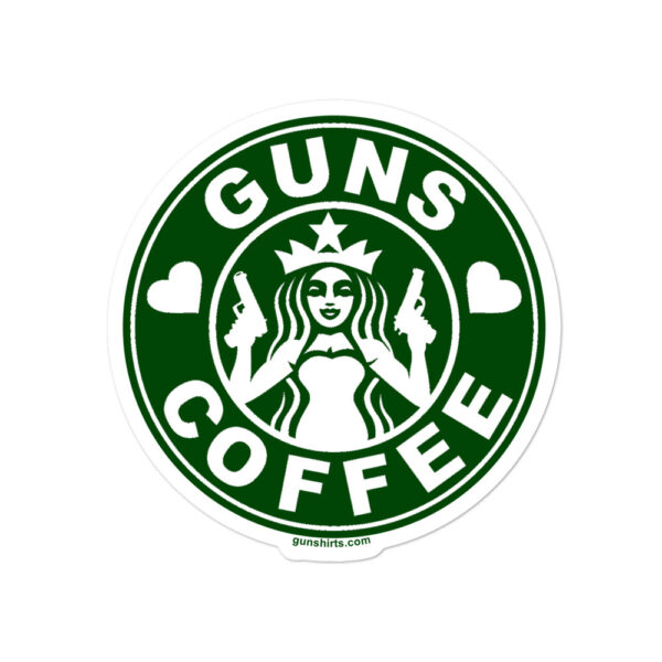 Guns and Coffee Stickers