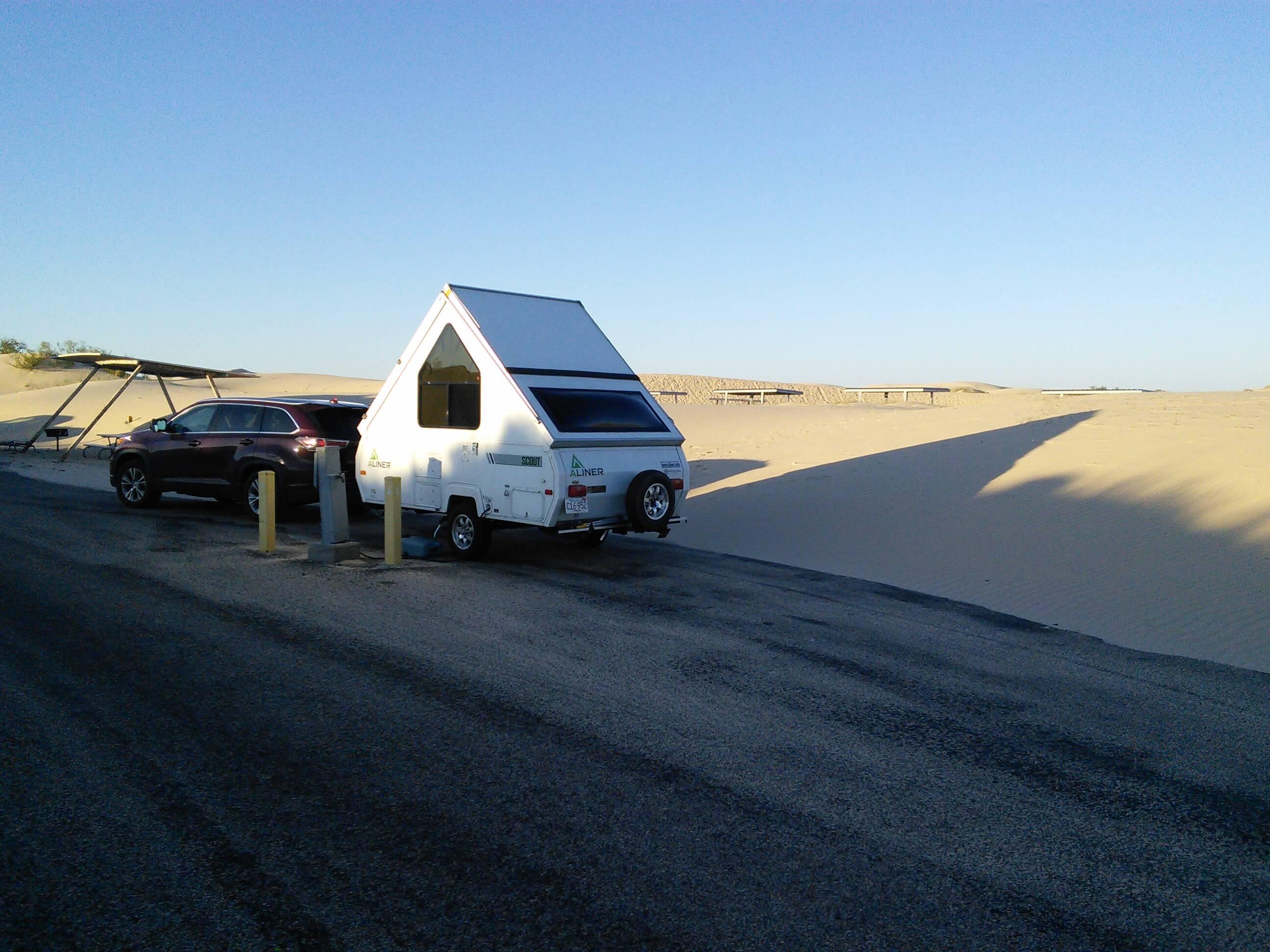 Aliner at Monahans Sandhills State Park, TX