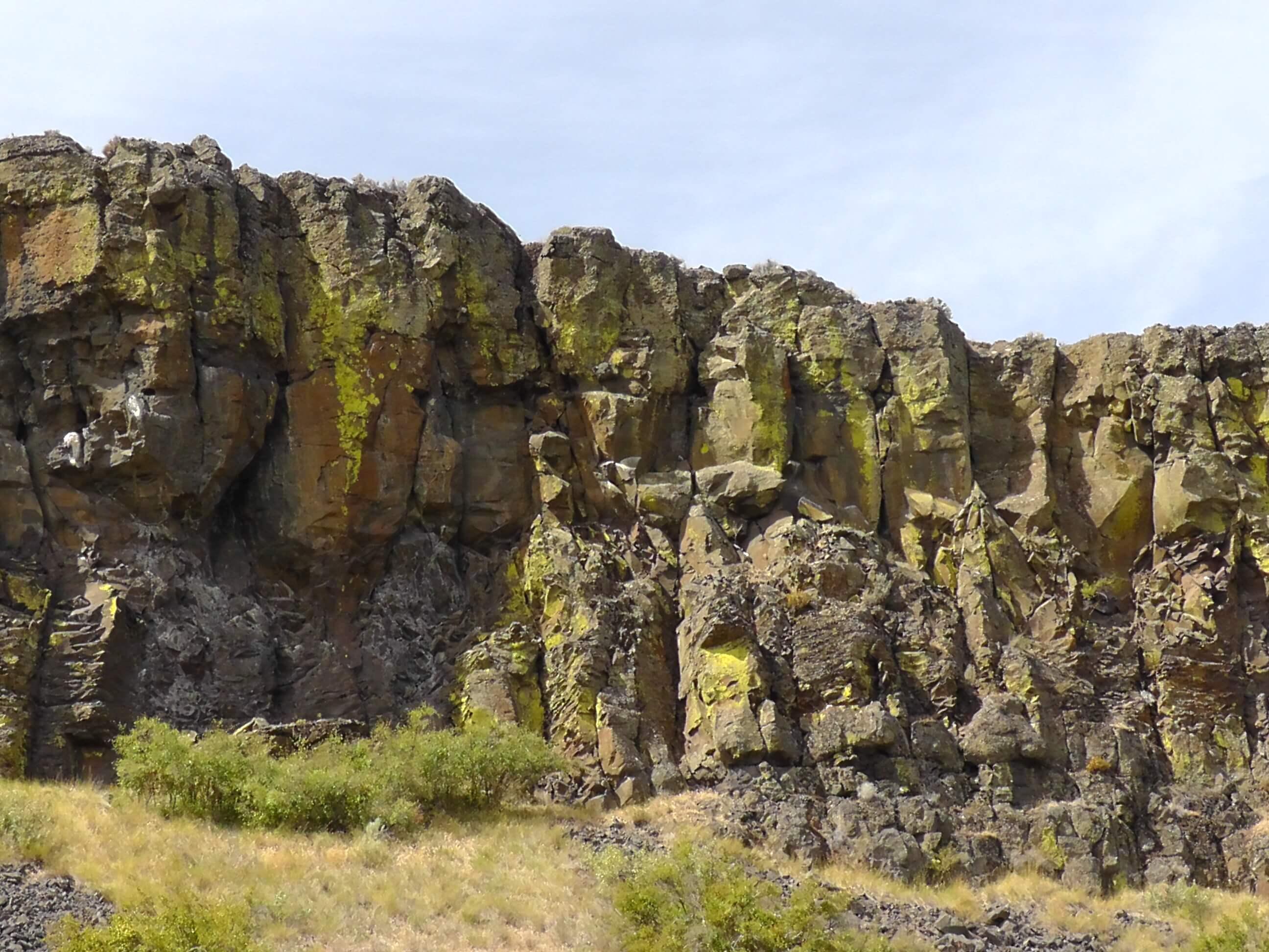 Basalt columns, Grand Coulee, Washington