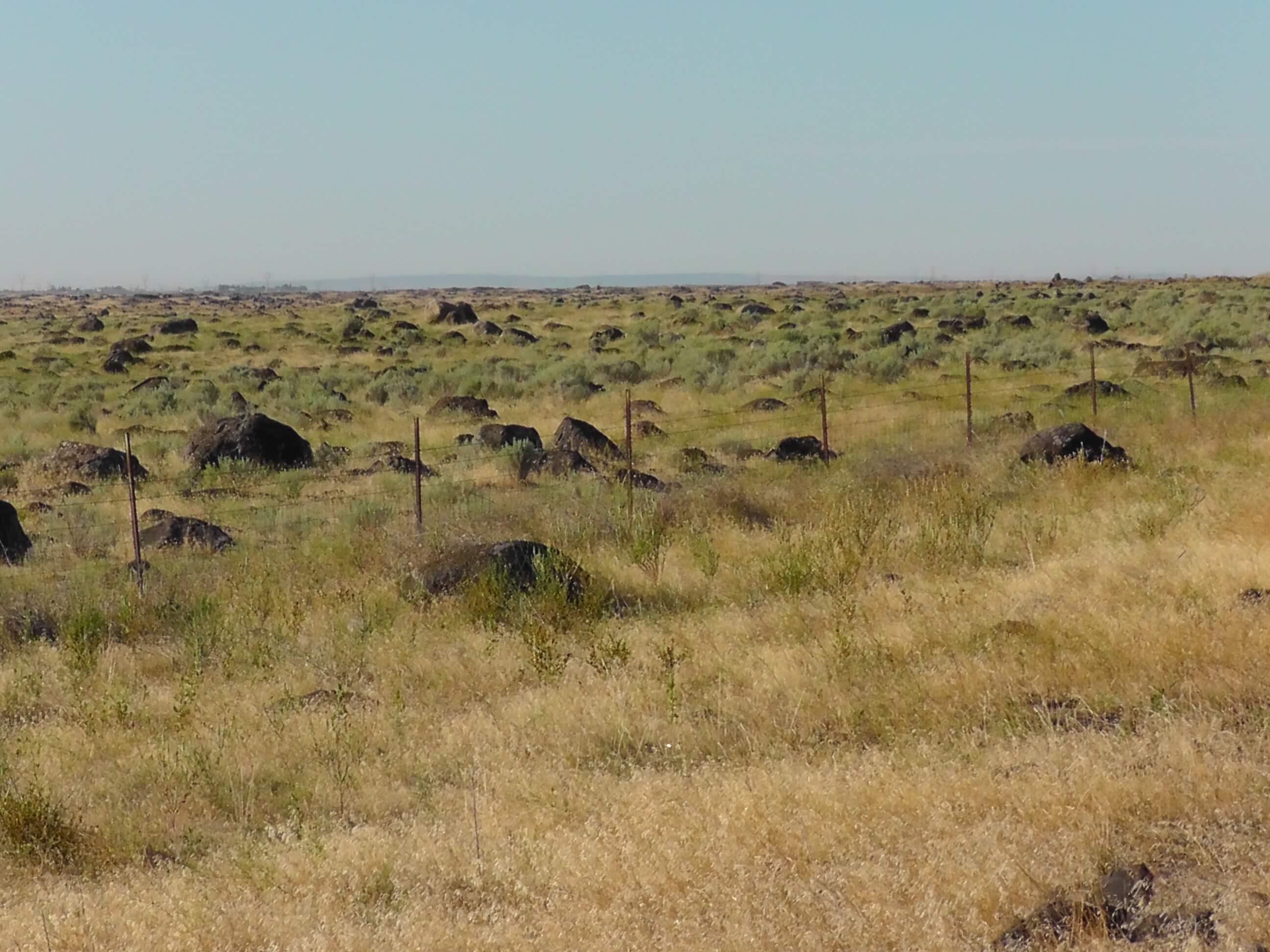 Outwash boulder field near Ephrata, Washington