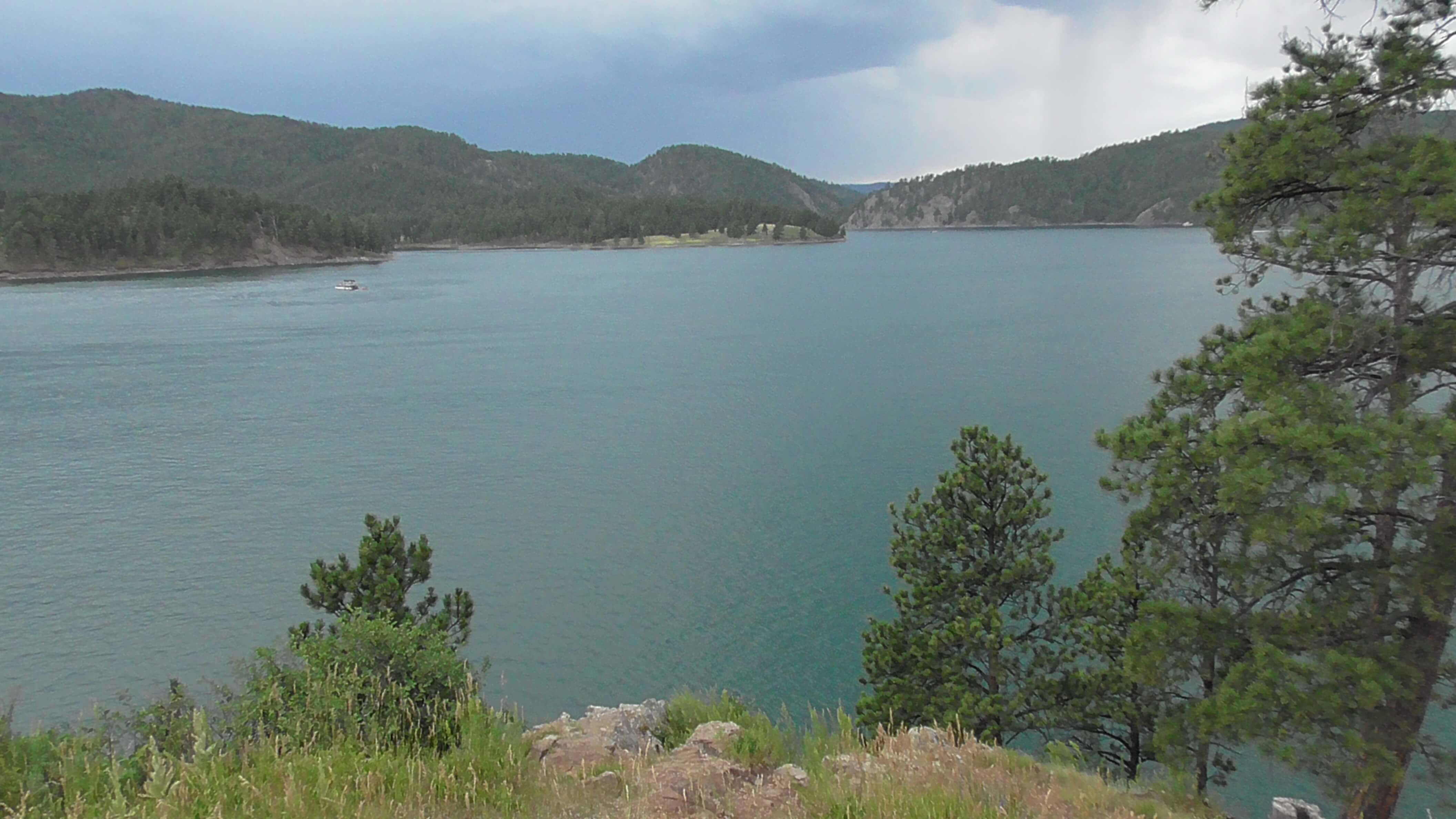 Lake Pactola on the way back to Custer