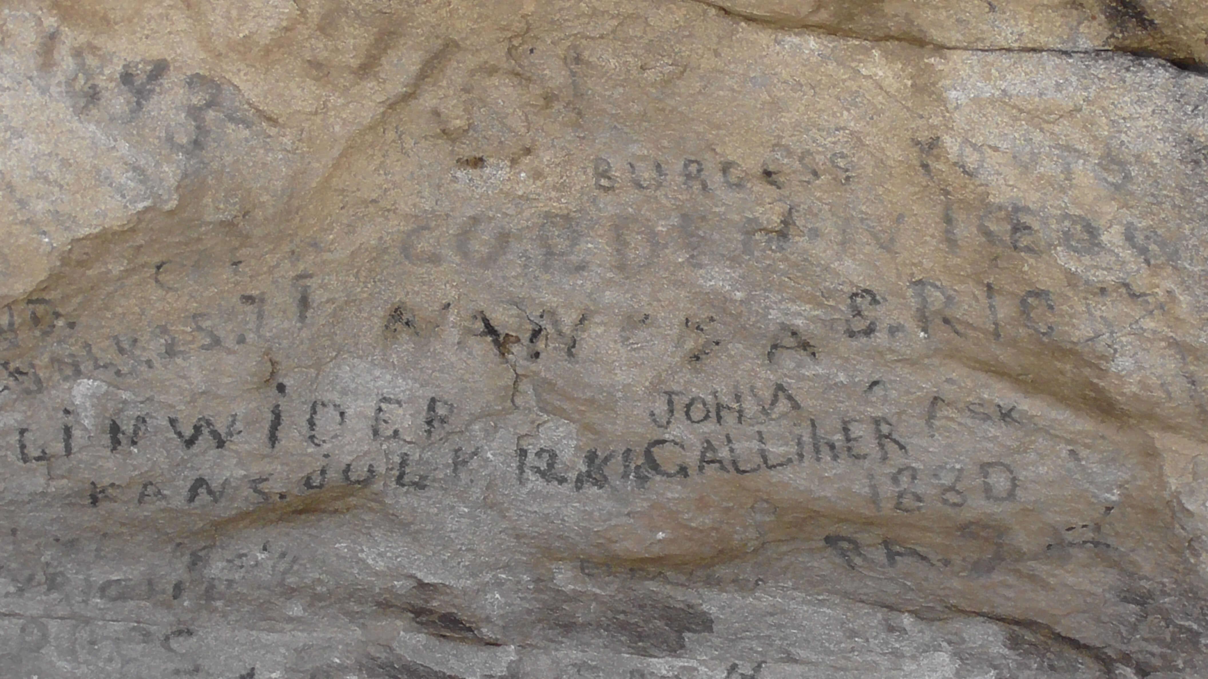 Pioneer signatures, City of Rocks National Reserve, Idaho