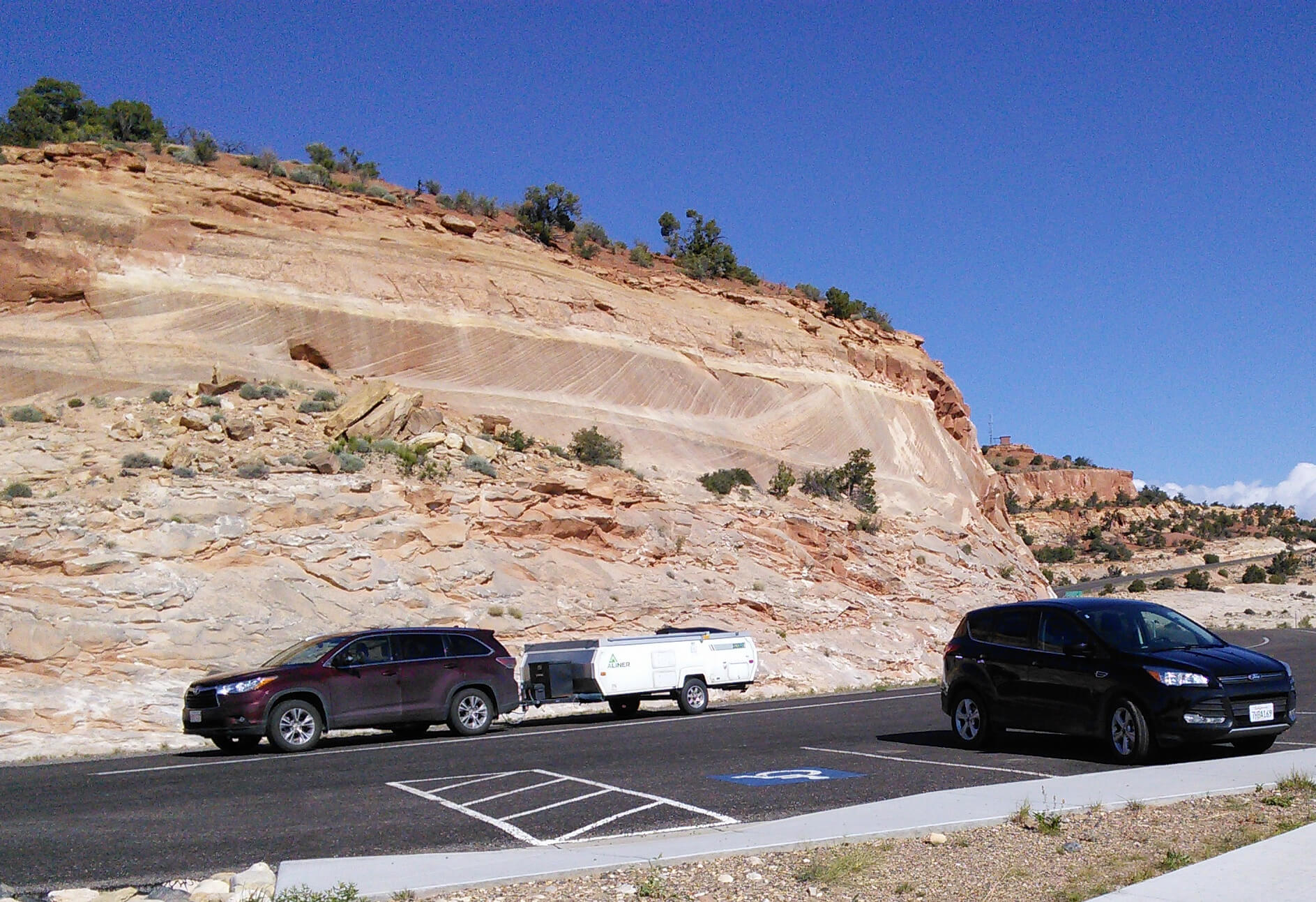 On the way to Capitol Reef National Park, Utah