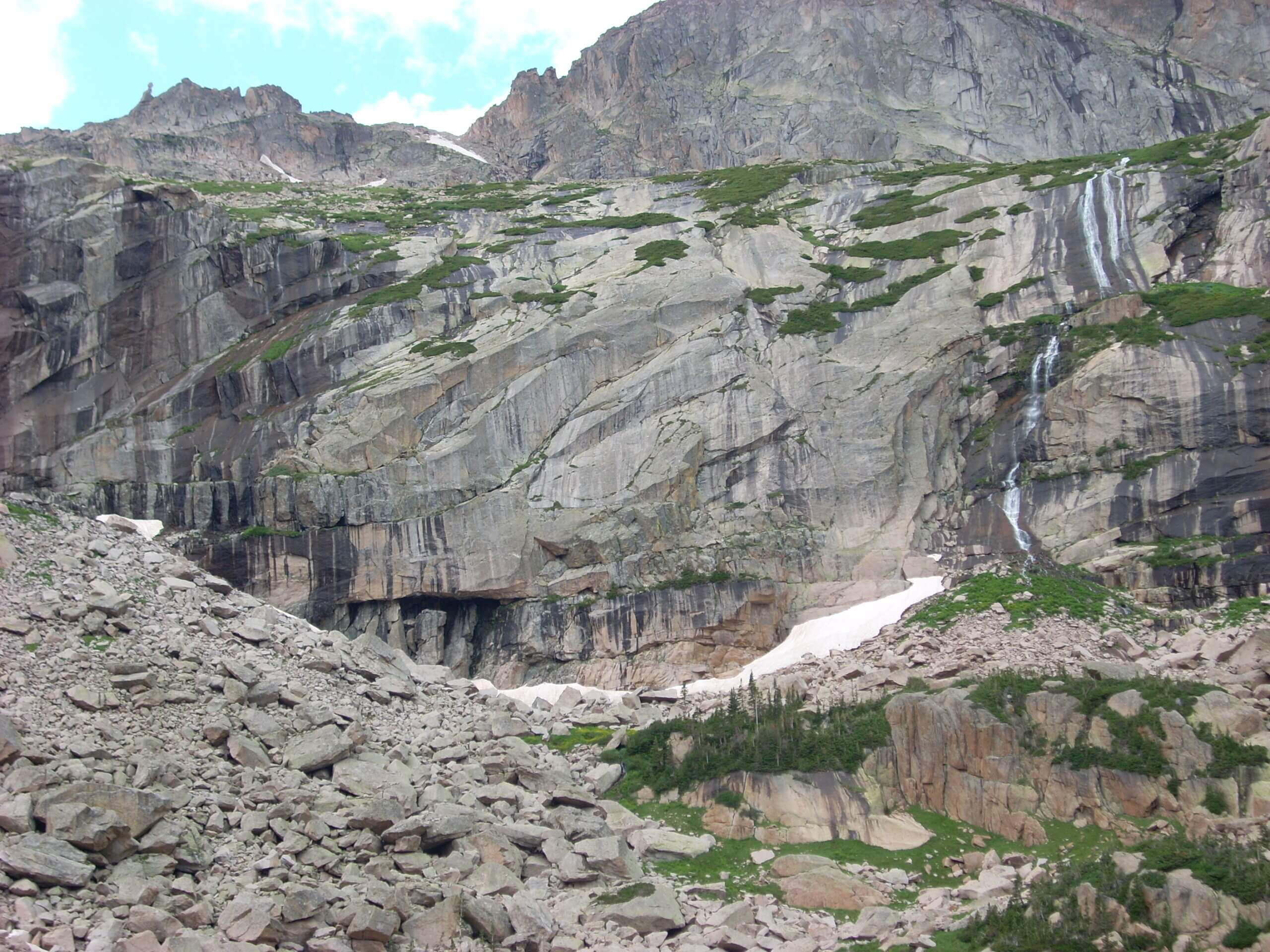 Falls from Frozen Lake, Rocky Mtn NP