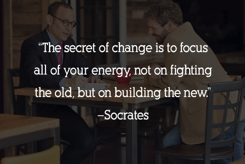 Quote: The secret of change is to focus all of your energy