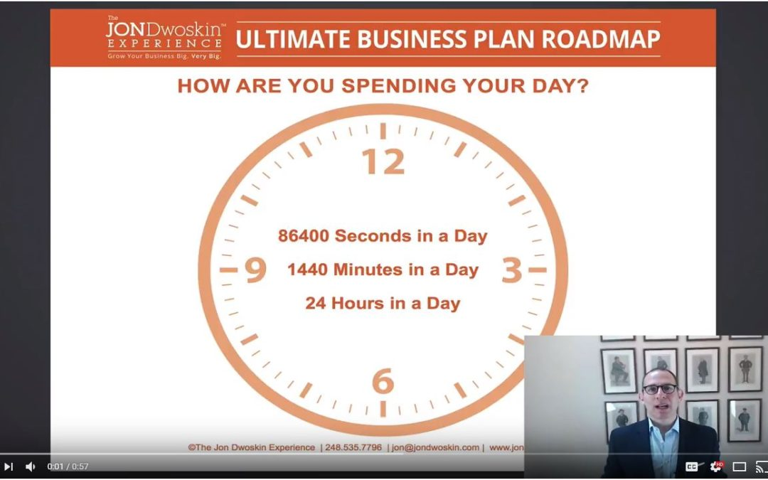 Jon's Business Tip of the Day: Are You Making the Most Your 86,400 Seconds?