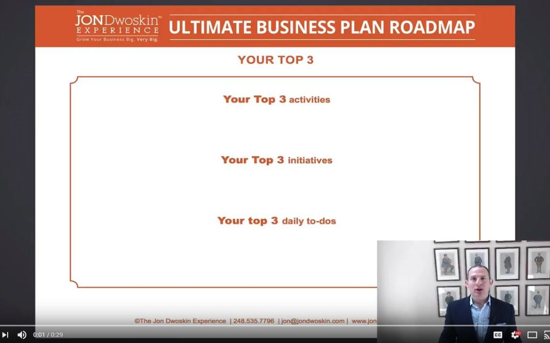 Jon's Business Tip of the Day: Plan Your Day in 3s!