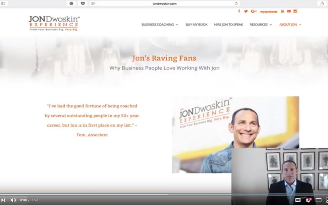Jon's Business Tip of the Day: My Raving Fans Can Inspire You to Grow Your Business Big
