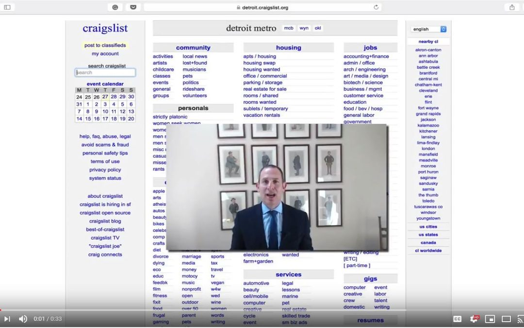 Jon's Business Tip of the Day: Don't Forget About Craigslist for Recruiting