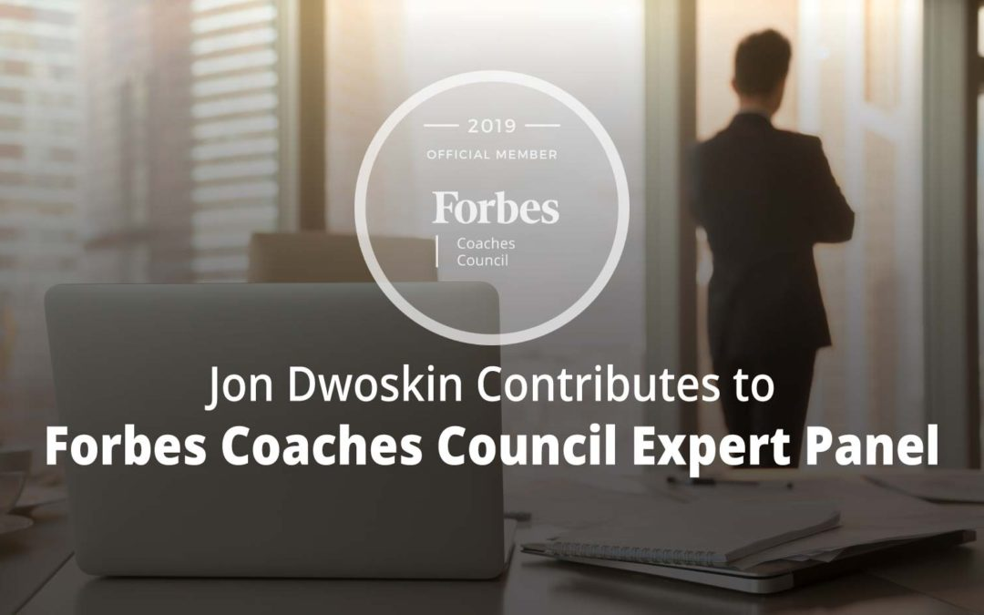 Jon Contributes to Forbes Coaches Council Expert Panel: 14 Steps Entrepreneurs Can Take To Become Thought Leaders In Their Industry