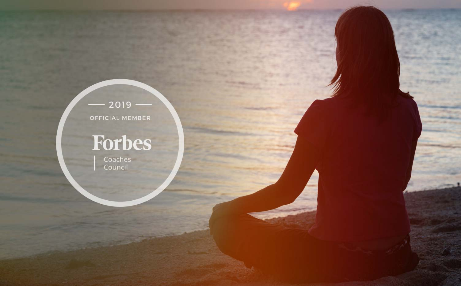 Jon Dwoskin's Forbes Coaches Council Article: Three Ways To Slow Down And Calm Your Ego - woman mediating at water's edge
