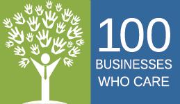 100 Businesses Who Care Logo