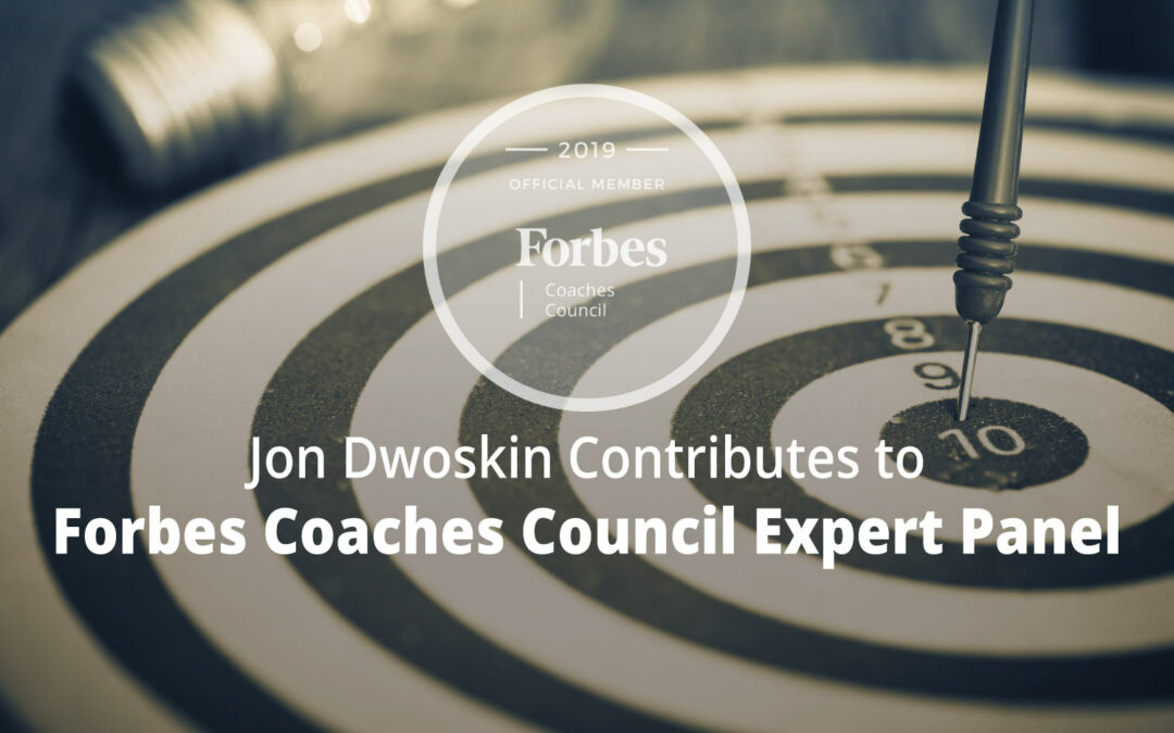 Jon Contributes to Forbes Coaches Council Expert Panel: 15 Ways for Leaders to Give Guidance Without Micromanaging